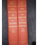 The Outline of History Vol. 1 and Vol. 2 by H.G. Wells - $58.00