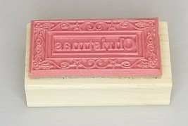 Outlines Rubber Stamp Co. Christmas Wood Mounted Rubber Stamp image 2