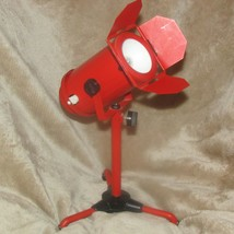 Barbie size studio light on stand, battery not included,  red, metal (be... - $45.82