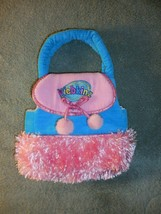 Webkinz Plush Pet Carrier Purse Pink Blue  Furry - $4.94