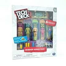 TECH DECK Sk8shop Bonus Pack Girl Skateboard Company - 6 Boards Accessories OOP - $37.63