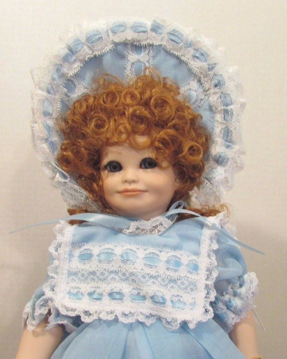 "1991 MARYSE NICOLE DOLL SALLY WITH BOX 14"" TALL RED HAIR"