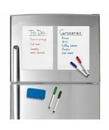 A5 Size Magnetic Whiteboard Fridge Magnets Dry Wipe White Board Marker E... - $3.06+