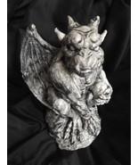 Gargoyle Sentry Protector Statue Horned Creature Beast Medieval Statuary  - $19.99