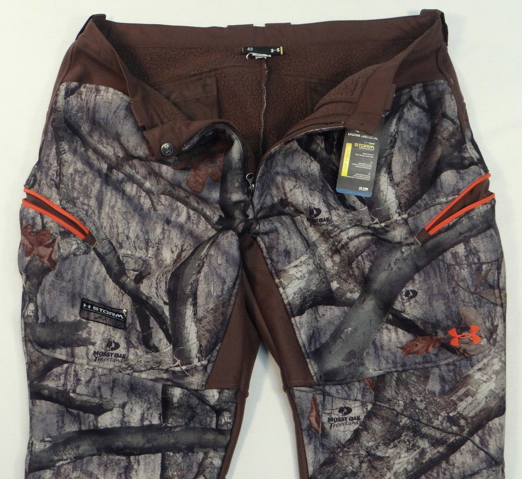314f9c04a3975 Under Armour Storm Ayton Sherpa Lined Mossy Oak Hunting Pants Men's 42 NWT