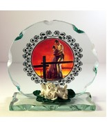 Gone With The Wind gift Collectable crystal Cut glass Plaque  #1 - $33.65