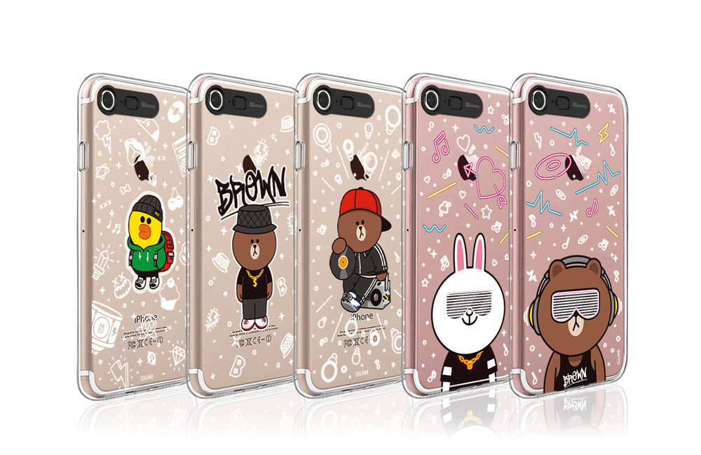 LINE Friends Beat BROWN Lighting Case V.2 iPhone 7/7 Plus Mobile Skin Cover Acc