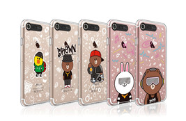 LINE Friends Beat BROWN Lighting Case V.2 iPhone 7/7 Plus Mobile Skin Co... - $43.98
