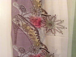 MAD fashion New scarf  Pastels Floral and High Heel Shoe Pattern choice of color image 11