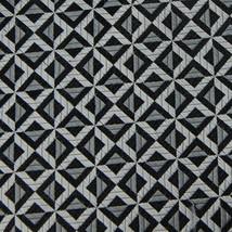 Van Heusen Silver Black Checker Geometric Woven Men Neck Tie Excellent Z... - $15.83
