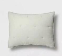 Threshold Tufted Crinkle Gauze Sham  Standard  Gray - $9.50