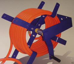 100 Ft. Wall Mount AIR HOSE REEL 3/8 and 1/2 tool new O manual crank - $39.99