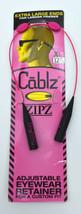 "Cablz Zipz Colorz Eyewear Adjustable eyewear Retainer Black / Pink Xl 12"" - $8.99"
