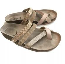 Sam Edelman Oakley Rose Gold Slides Sandals  Foot Bed Shoes 8 Glitter Women - $29.65