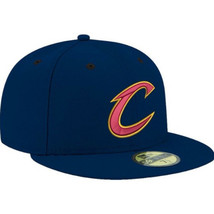 Cleveland Cavaliers Cavs C Logo New Era Blu Navy Aderente Hat 7 NBA Lebr... - $50.66