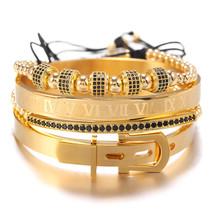 Classic Stainless Steel Bangle Sets Luxury Punk Men Bracelets Sets Women... - $38.55