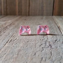 Video Game Controllers Pink X BOX Inspired Earrings Handmade - $5.82