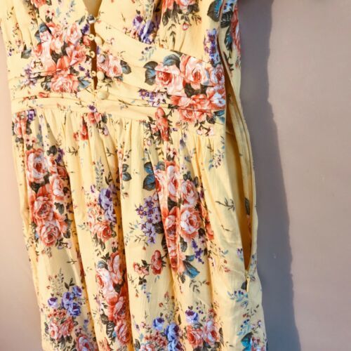 Forever 21 Yellow Floral dress size small