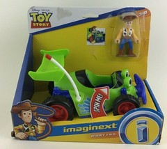Imaginext Woody & R.C. Buggy Green Car Disney Toy Story Mattel Action Fi... - $32.62
