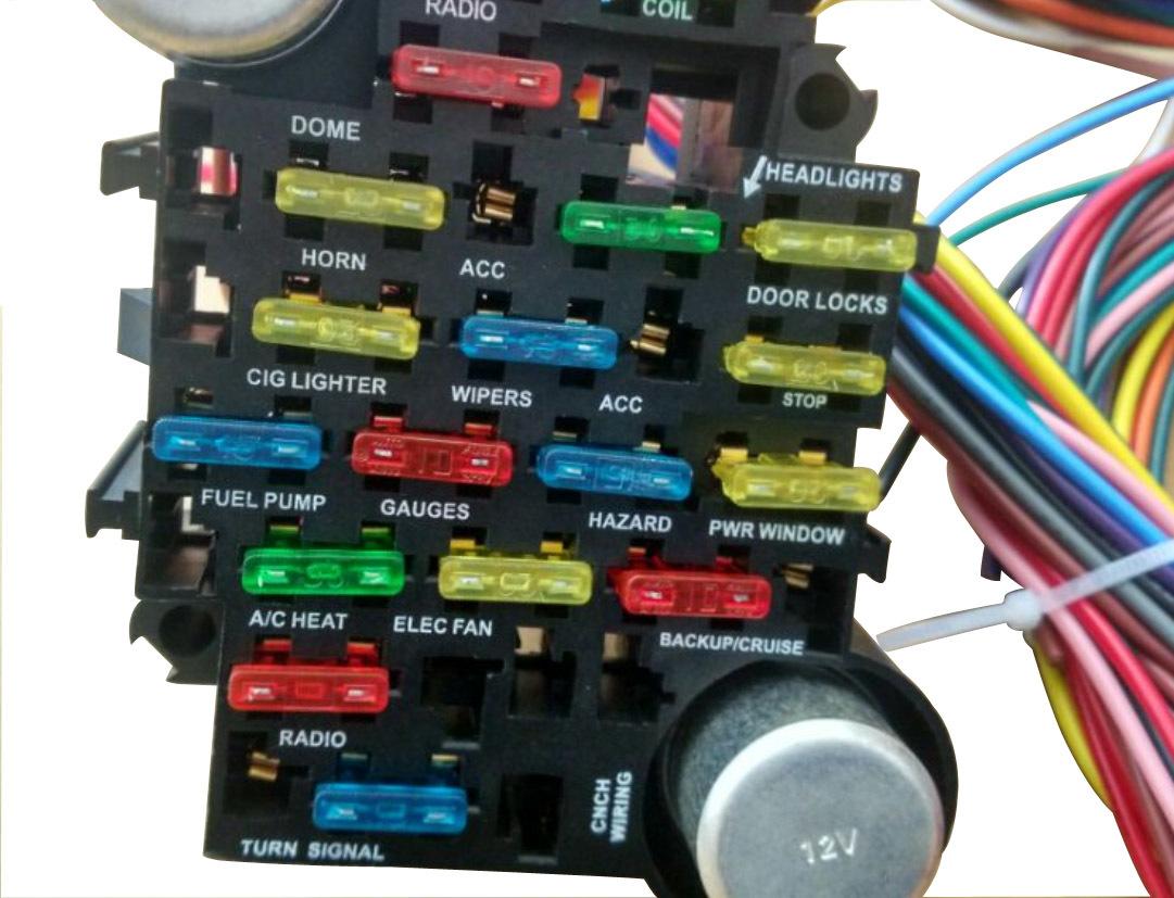 Universal Wiring Harness Chevy : Chevy corvette circuit universal wiring harness