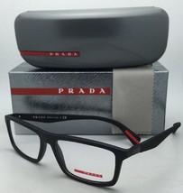 New PRADA Eyeglasses VPS 02F DG0-1O1 54-16 135 Rectangular Black Rubber Frames