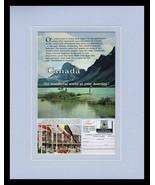1960s Canada Travel Tourism Framed 11x14 ORIGINAL Vintage Advertisement  - $41.71
