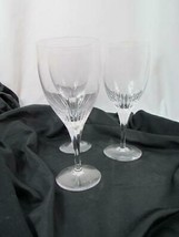 "Lot of 3 Crystal Atlantis 7 3/8"" Sonnet Water Goblet Clear No Trim Signed - $142.49"