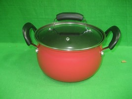 be Basic Essentials 3 Quart Casserole with Lid Non-Stick ~ Red-Black ~ New - $17.72
