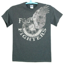 Foo Fighters T-Shirt Shirt Size S Small Winged Wheel Distressed Grey - €15,30 EUR