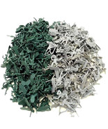 72 pc - Army Men Soldiers Gray Green Plastic Action Figures - $6.99