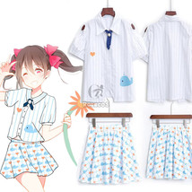 Love Live Lovelive Yazawa Nico Lolita Lovely Whale Print Dress Blouse + ... - $38.99