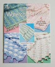 Crochet Afghan Weekend Watercolor Throws 5 Designs Annie's Attic Leaflet - $5.00