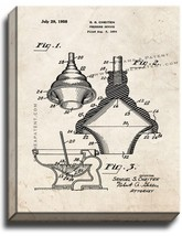 Toilet Plunger Patent Print Old Look on Canvas - $39.95+