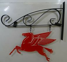 "Mobil Pegasus Plasma Cut Metal Sign on Hanger 15""  image 3"