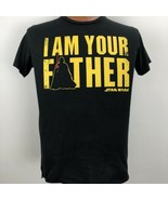 Star Wars I Am Your Father Black T Shirt Size Medium Fifth Sun Lucas 100... - $19.79