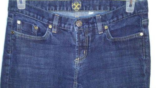 Bebe Womens 30P Jeans Dark Wash Boot Cut Stretch