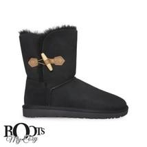 UGG KEELY BLACK SUEDE/SHEEPSKIN WOMEN'S BOOTS SIZE US 6/UK 4.5/EU 37 NEW - $142.99