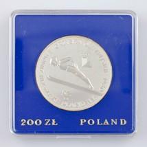 1980-MW Polonia 200 Zlotych W/ Torcia (a Prova di ,Pf) Inverno Olimpiadi... - $49.50