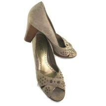Franco Sarto Beige Studded Open Toed High Heels Size 11M - $81.59