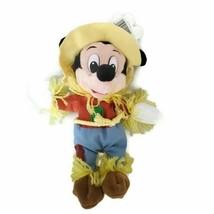 Scarecrow Mickey Mouse Disneyland Mouseketoys Bean Bag Plush Stuffed Animal - $19.79