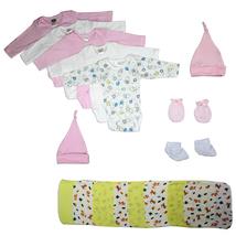 Bambini Newborn Baby Girl 17 Pc Layette Baby Shower Gift Set - $39.40