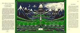 J R R Tolkien-THE HOBBIT facsimile dust jacket for 1966 Hardback book - $21.56