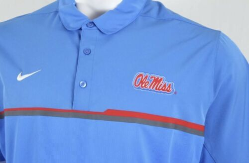 598fab42e Nike Mens Dri-Fit Blue Ole Miss Rebels Polo and 50 similar items