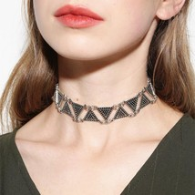 Triangle Geometric Choker Necklaces Personality Exaggerated Jewelry - $2.99