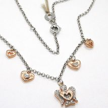 925 STERLING SILVER NECKLACE, HEART ANGEL, ZIRCON, ROBERTO GIANNOTTI, GIA331 image 3