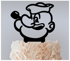 Wedding,Birthday Cake topper,Cupcake topper,silhouette Pop Eye Package :... - $20.00