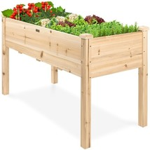 Farmhouse Wood 48x24x30in Raised Garden Bed Elevated Garden Planter Stand - $257.04