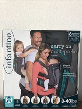 Infantino Carry On Multi-Pocket Carrier Toddler / Baby 8-40lbs Sling Bac... - $52.00