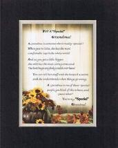 Touching and Heartfelt Poem for GrandParents - For a Special Grandmother Poem on - $15.79