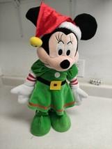 "Minnie Elf Greeter Gemmy 21"" Tall Christmas Green Standing Plush - $29.99"